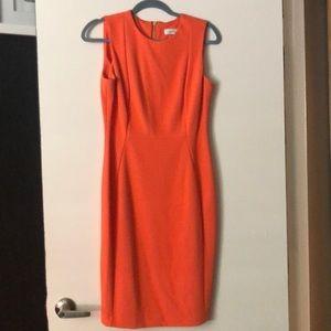 Trending orange color cocktail dress